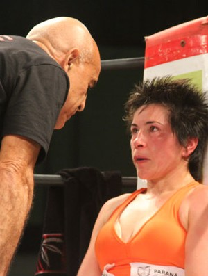 Boxeadora Rosilete dos Santos  (Foto: Gabriel Hamilko / GloboEsporte.com)