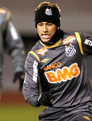 neymar santos treino mundial de clubes (Foto: Agência AP)