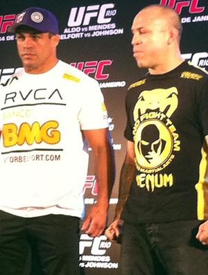 Vitor Belfort e Wanderlei Silva UFC (Foto: Klima Pessanha/GLOBOESPORTE.COM)