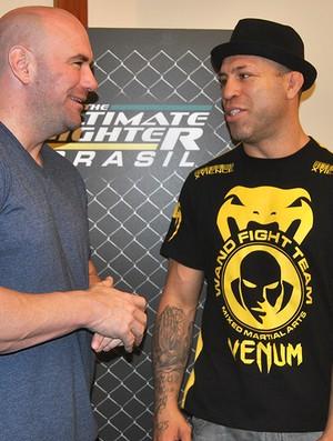 Dana White e Wanderlei Silva UFC (Foto: João Gabriel / Globoesporte.com)