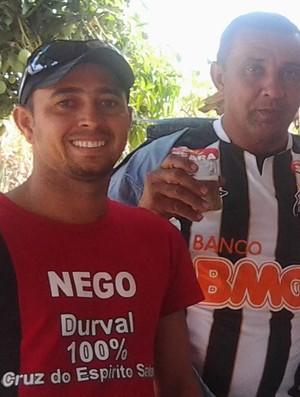 Fernandinho estilizou camisa para incentivar ao amigo Durval (Foto: Divulgação/ Arquivo Pessoal)