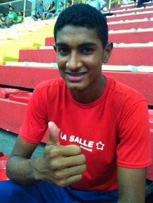 Kevin Christian, 16, foi destaque no JEBs 2011 disputado no Paraná (Foto: Adeilson Albuquerque)