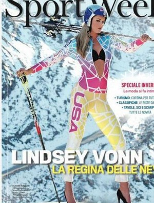 Lindsay Vonn esqui ensaio (Foto: facebook / Settimio Benedusi)