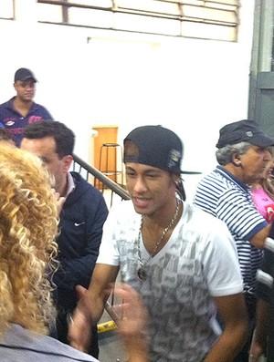Neymar Biro Biro Morumbi jogo das estrelas (Foto: Marcelo Baltar / Globoesporte.com)