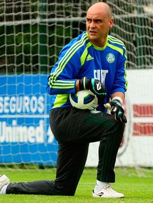 Marcos em treino do Palmeiras (Foto: Marcos Ribolli/Globoesporte.com)