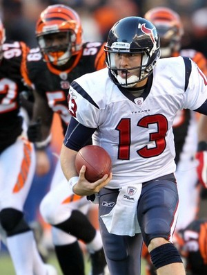 T.J. Yates, quarterback do Houston Texans contra o Cincinnati Bengals (Foto: Getty Images)