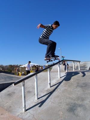 Luis Cristopher, skatista de Uberaba (Foto: Paulo Tarso)