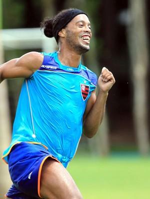 Ronaldinho Gaúcho treino Flamengo (Foto: Cezar Loureiro / Agência o Globo)