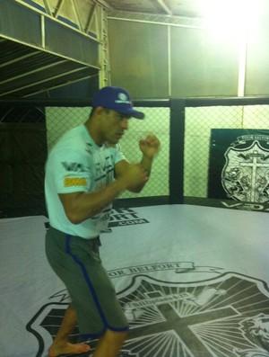 Vitor Belfort treinando para o UFC Rio (Foto: Ana Hissa/SporTV.com)