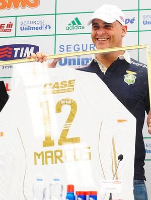 Marcos durante despedida no Palmeiras (Foto: Marcos Ribolli / GLOBOESPORTE.COM)