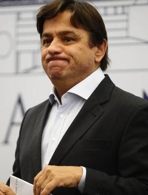 Arnaldo Tirone, presidente do Palmeiras (Foto: Marcos Ribolli / Globoesporte.com)