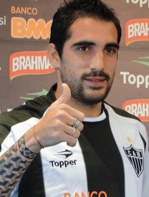 Escudero, meia do Atlético-MG (Foto: Fernando Martins/Globoesporte.com)