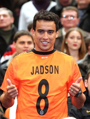Jadson na despedida do Shakhtar (Foto: AFP)