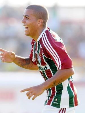 Thiago Carleto na vitória do Fluminense sobre o Friburguense (Foto: Dhavid Normando/Photocamera)