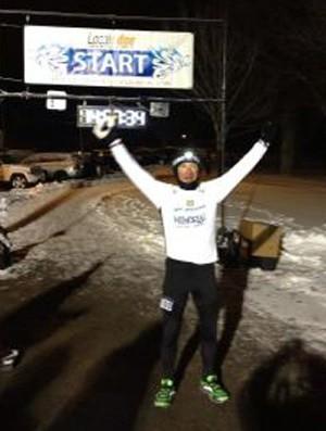 Valmir Nunes corrida 100 milhas Boston (Foto: Arquivo Pessoal)