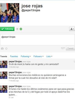 Twitter do Rojas La U (Foto: Reprodução/Twitter)