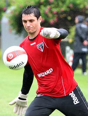 Denis no treino do São Paulo (Foto: Anderson Rodrigues / Globoesporte.com)