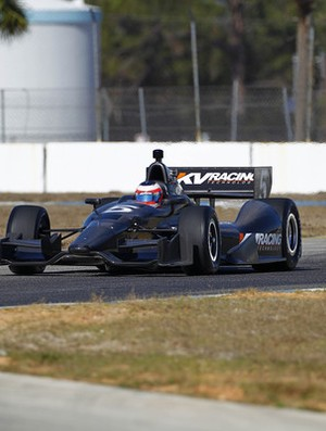 Rubens Barrichello teste Fórmula Indy (Foto: Divulgação / LAT photo)