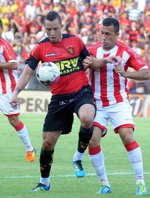 Jefferson e Diogo - Náutico - Sport (Foto: Aldo Carneiro)