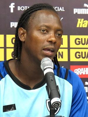 Andrezinho no treino do Botafogo (Foto: André Casado / Globoesporte.com)