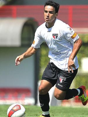 Jadson no treino do São Paulo (Foto: Moisés Nascimento / Ag. Estado)