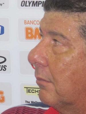 joel santana flamengo coletiva (Foto: Janir Junior/Globoesporte.com)