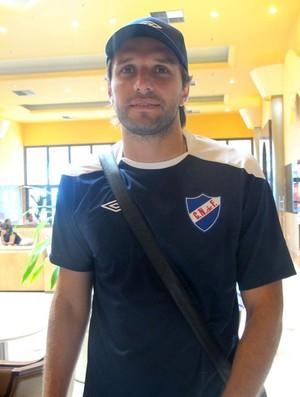 Jadson viera nacional-URU (Foto: Thiago Fernandes / Globoesporte.com)