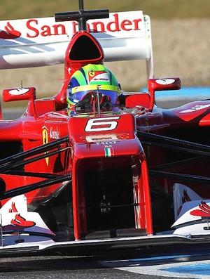 Felipe Massa no segundo dia de testes em Jerez F-1 (Foto: Getty Images)