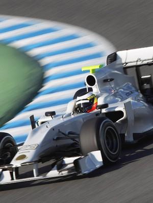 F1 TESTE HRT Pedro de la Rosa (Foto: GETTY IMAGES)