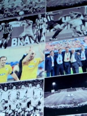 Mural com fotos dos jogos do clube na fase de grupos da Champions  (Foto: Cahê Mota / Globoesporte.com)
