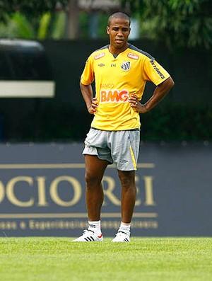 Borges no treino do Santos (Foto: Ricardo Saibun / Site Oficial do Santos)