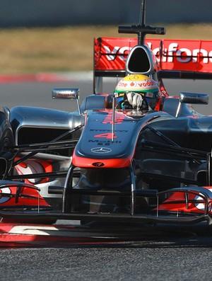 Lewis Hamilton McLaren teste Barcelona (Foto: Getty Images)