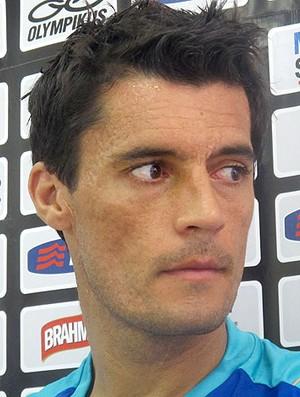 Marcos Gonzalez coletiva Flamengo (Foto: Janir Junior / Globoesporte.com)