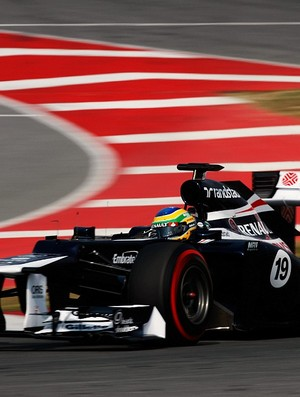 Bruno Senna Barcelona Williams testes (Foto: Getty Images)