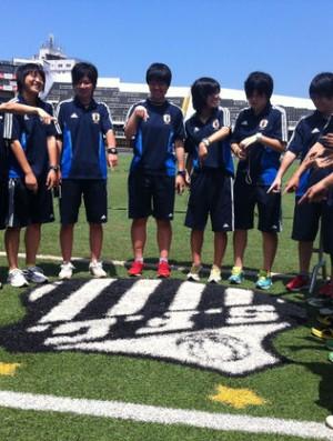 Seleção sub-17 feminina do Japão visita o Santos (Foto: Matheus Misumoto / TV Tribuna)