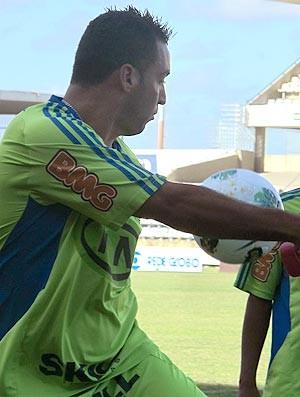 Daniel Carvalho - treino do palmeiras em Maceió (Foto: Daniel Romeu / Globoesporte.com)