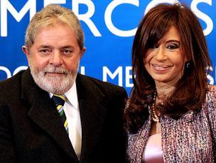 lula presidente brasil Cristina Kirchner presidente argentina (Foto: agência AFP)