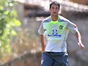 Thiago Neves no treino do Flamengo