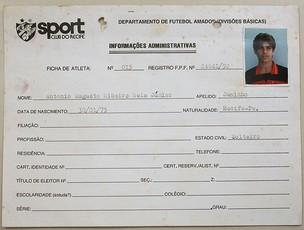 registro de Juninho Pernambucano no Sport (Foto: Rafael Cavalieri / GLOBOESPORTE.COM)