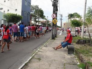 Fortaleza, torcida, amistoso, longas filas (Foto: Gioras Xerez/ Globoesporte.com)
