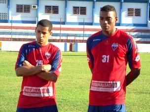 Isael e Preto Jgadores do Fortaleza (Foto: Divulgação / Fortaleza)