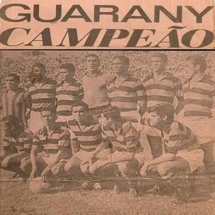 Foto do Guarany de Sobral campeão do 1º turno do Cearense de 1970 (Foto: Divulgação / Guarany de Sobral)
