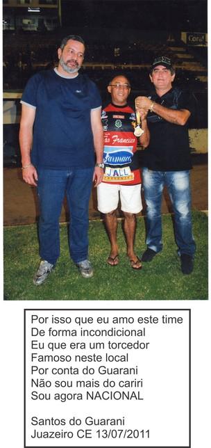 Seu Santos, torcedor-símbolo do Guarany de Juazeiro (Foto: Arquivo Pessoal / Seu Santos)