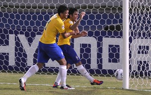 Henrique gol Brasil x Áustria (Foto: AFP)