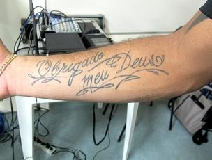 Jael Flamengo tatuagem (Foto: Janir Junior / Globoesporte.com)