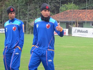 Deivid no treino do Flamengo em Curitiba (Foto: Janir Junior / GLOBOESPORTE.COM)