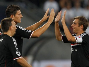 mario gomez Bayern de Munique x zurique (Foto: Reuters)