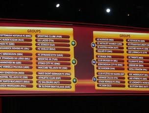sorteio liga europa 2012 (Foto: Agência AP)