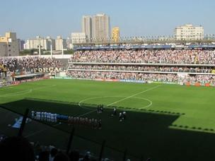 Vila Belmiro, com Santos x São Paulo (Foto: Adilson Barros / globoesporte.com)