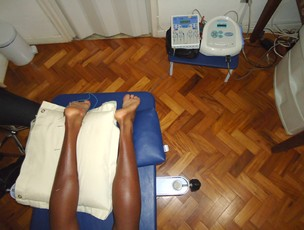 Corrida lesão Tarcísio pernas (Foto: Luisa Prochnik/Globoesporte.com)
